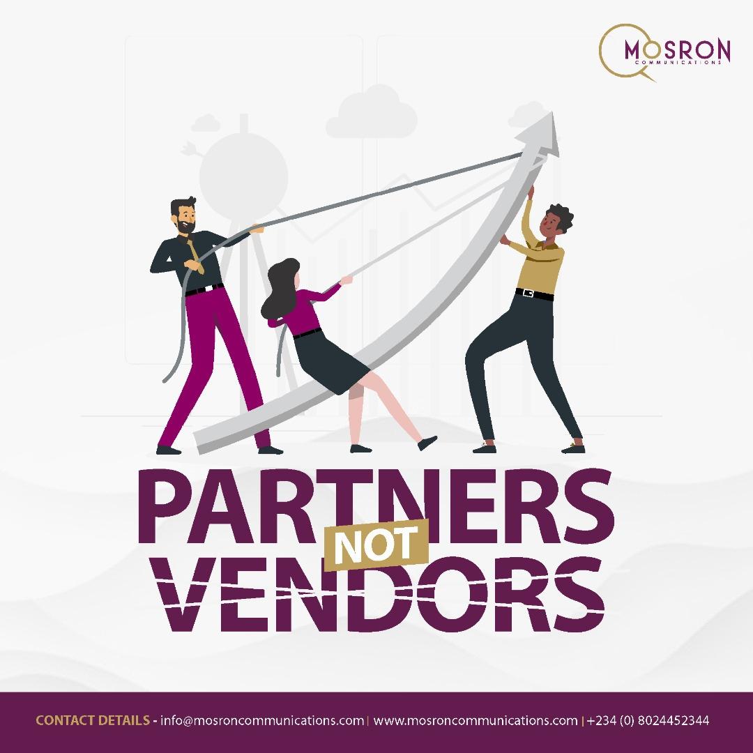 Partners, not Vendors